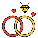 engagement, love, ring, valentine icon