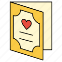card, greeting, valentine icon
