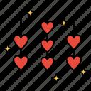 heart, hearts, love, rope, valentine