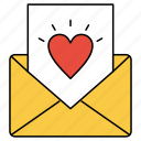heart, letter, love icon