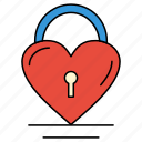 heart, lock, love