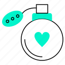 heart, love, perfume, valentine icon
