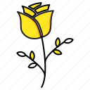 flower, love, rose, valentine icon