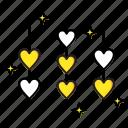 heart, hearts, love, rope, valentine icon