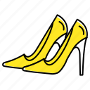 footwear, sandals, shoes, women icon