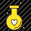 bottle, drink, love icon