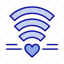 heart, love, wedding, wifi
