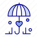 insurance, love, secure, umbrella icon