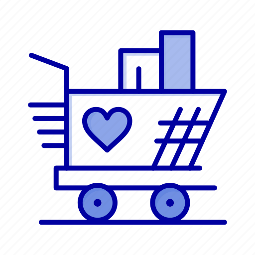 Heart, love, trolly, weding icon - Download on Iconfinder