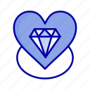 diamond, heart, love, wedding