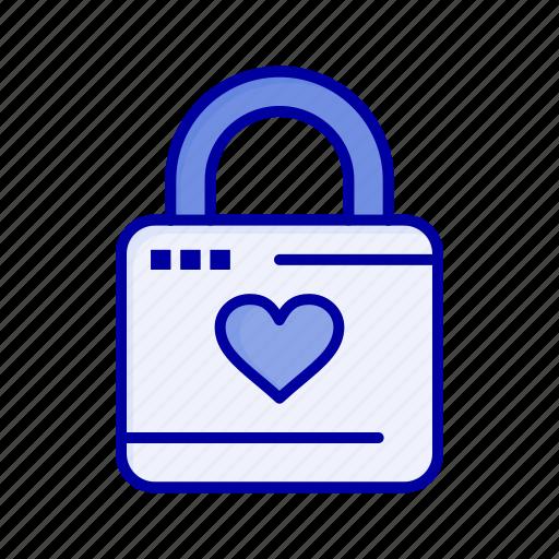 Hacker, heart, lock, locker icon - Download on Iconfinder