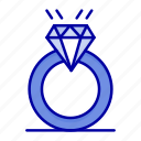 diamound, love, marriage, proposal, ring icon