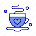 coffee, cup, love, tea