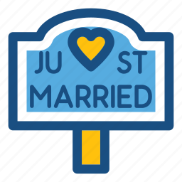 celebration, just married, marriage, newlyweds, wedding icon