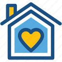 house, love home, happy home, happy family, heart sign icon