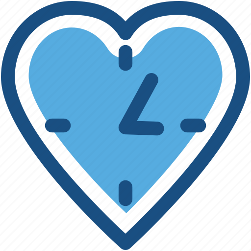 clock, heart, love, time, timer icon