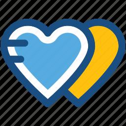 favorite, heart shape, hearts, love, romantic icon