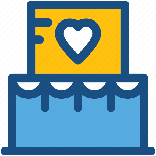 bakery food, cake, dessert, valentine cake, wedding cake icon