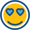 emoji, emoticon, happy smiley, in love smiley, smiley icon