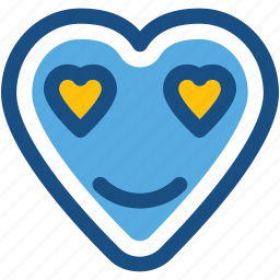 heart, heart smiley, in love, love, valentine icon