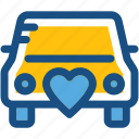 automobile, car, transport, travel, wedding car icon