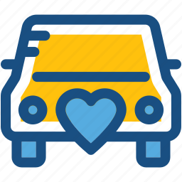 automobile, car, transport, travel, wedding car icon