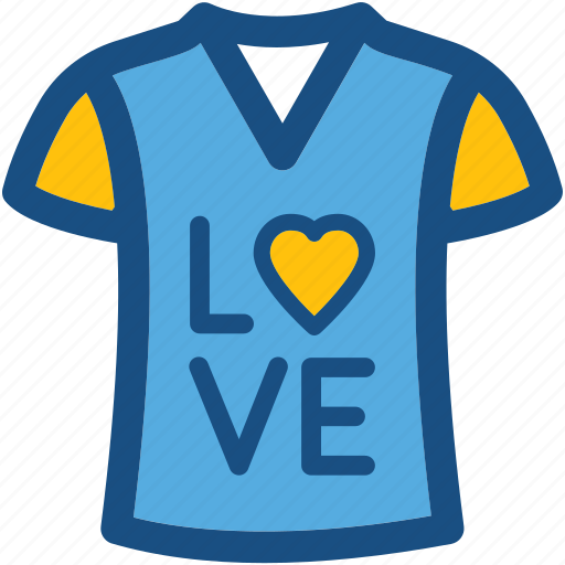 clothes, clothing, fashion, shirt, t shirt, valentine shirt icon