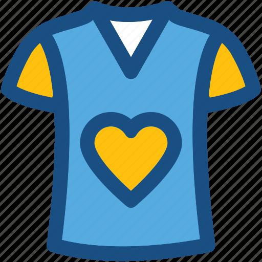 clothes, clothing, fashion, shirt, t shirt, valentine shirt icon