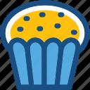 bakery, cupcake, dessert, muffin, pie