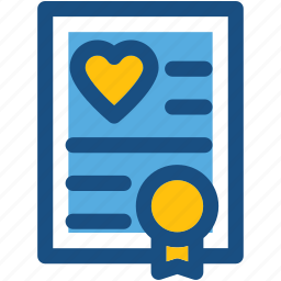heart, love greeting, love letter, marriage certificate, marriage invitation icon
