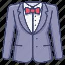 bowtie, men, suit, wear icon