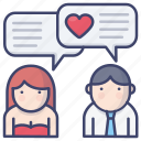 chat, confession, love, pick, up icon