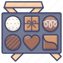 candy, chocolate, gift, love icon