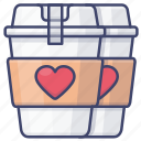 coffee, date, latte, love icon