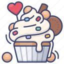cake, cream, cupcake, dessert