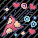 celebration, fireworks, love, valentines icon