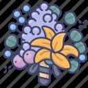 flower, bouquet, valentines, romance icon