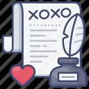 confession, letter, love, romantic icon