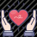 love, care, heart, take icon