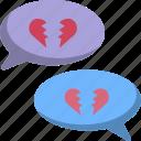 chat, conversation, divorce, heart, heartbroken, love