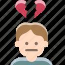alone, heartbroken, loser, sad, valentine icon