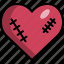 heart, injury, pain, scar, valentine