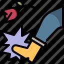 break, bully, divorce, kick, rose, up icon