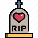 heart, graveyard, tomb, dead, rip, love