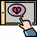 break, heart, love, tablet, technology, up