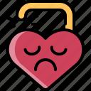 break, divorce, heart, sad, unlock, up, valentine