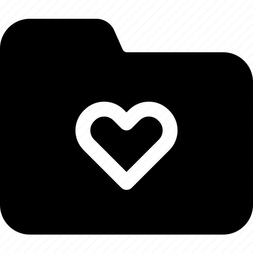 directory, document, file, folder, heart, passion, romance icon