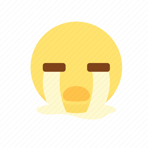 cry, disappointment, loss, lovely emoji, sad, tears icon
