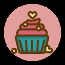 cupcake, dessert, gift, present, sweet, valentines icon
