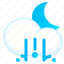 hail, lighthail, night, weather icon